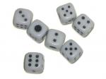 Кубик игровой белый №12