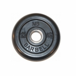 Диск обрезиненный MB barbell  1,25 кг  D-26мм