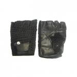 Перчатки без пальцев (кожа сетка)