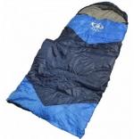 Мешок спальный из холлофайбера,синий с голубыми вставками. (190 30 см) ZQ-1.65
